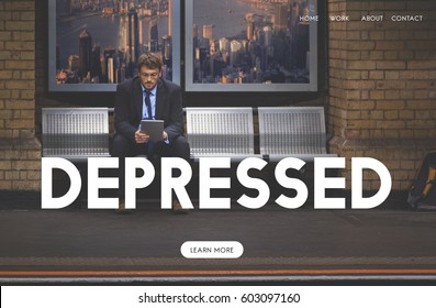 Depressed Emotion Website Homepage Webpage