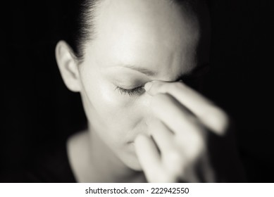 Depressed and sad woman