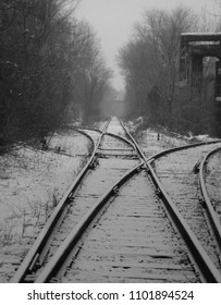 Depressing abandoned rail tracks