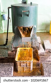 Depulper macine for oil palm seeds production in seeds production lab