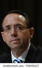 Deputy Attorney General Rod Rosenstein testifies at the Senate Subcommittee on Appropriations on the Justice Department's FY 2018 budget Washington DC, June 13, 2017.