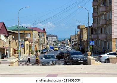DERBENT, DAGESTAN, RUSSIA - AUG 4, 2017 -  City views of  Derbent, Dagestan, Russia
