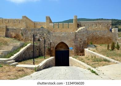 DERBENT, DAGESTAN, RUSSIA - AUG 4, 2017 - The gate of Dag-Kapa in the fortress of Naryn-Kala. Derbent, Dagestan