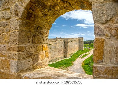 Derbent is renowned for its Medieval fortress, Naryn-Kala, a UNESCO world heritage site. Wall of the Derbent citadel. Republic of Dagestan, Russia