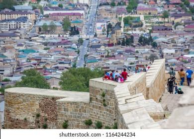 Derbent, Republic of Dagestan / Russia - 05.06.2018: Naryn-Kala, a UNESCO world heritage site.
