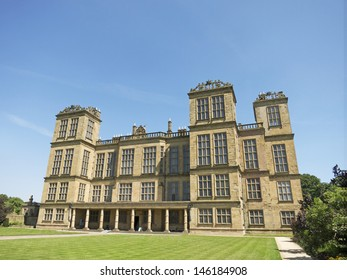DERBYSHIRE,UK - JULY 7:  Hardwick Hall, Derbyshire, July 7, 2013. The National Trust is meeting with HS2 Rail link officials to discuss its concerns about the visual impact on the estate.