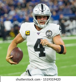 Derek Carr #4 - Indianapolis Colts host the Oakland Raiders on 9/29/19 at Lucas Oil Stadium in Indianapolis IN-USA