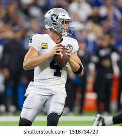 Derek Carr - Indianapolis Colts host the Oakland Raiders on Sunday Sept. 29th 2019 at Lucas Oil Stadium in Indianapolis, IN -USA
