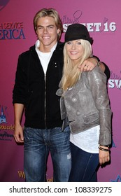 Derek Hough and Julianne Hough  at the Sweet 16 Celebration for Miley Cyrus. Disenyland, Anaheim, CA. 10-05-08