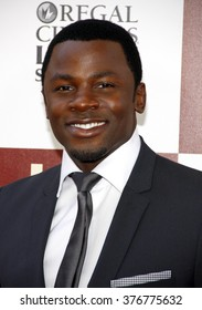 """Derek Luke at the 2012 Los Angeles Film Festival premiere of """"Seeking A Friend For The End Of The World"""" held at the Regal Cinemas L.A. LIVE Stadium 14 in Los Angeles, USA on June 18, 2012."""