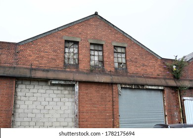 Derelict buildings on dock, old lock ups and storage units left empty for years