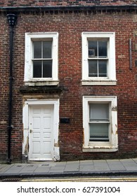 derelict empty terraced house in the north of england