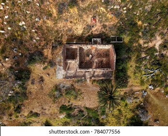 Derelict house from above