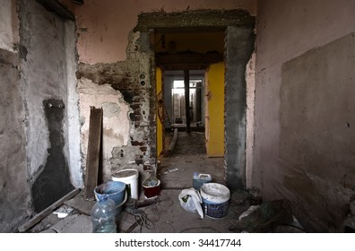 Derelict interior to be redecorated