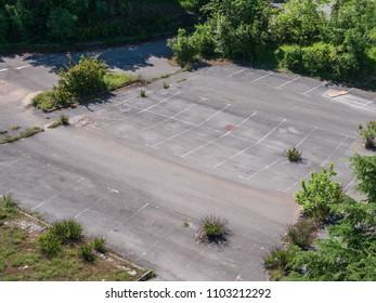 Derelict parking lot Croatia