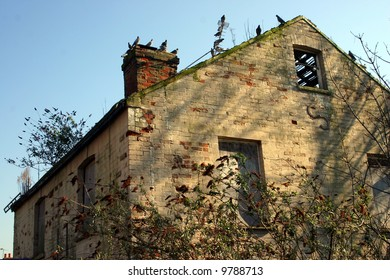 A derelict property falling into ruin favoured now only by pigeons