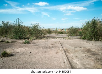 Derelict site of former engineering and metal processing complex, UK