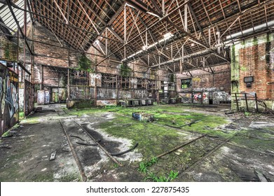 Derelict warehouse in an abandoned coal mine, HDR