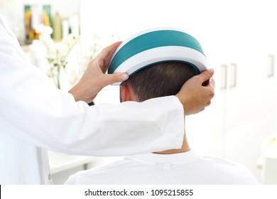 Dermatologist. Treatment against hair loss.