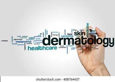 Dermatology word cloud concept