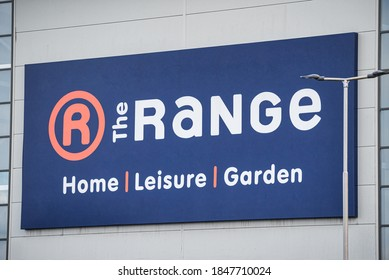 Derry, Northern Ireland- OCT 10, 2020: The sign for The Range in Derry.