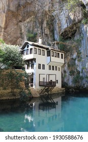 Dervish House or Blagaj Tekija. The building is a Dervish monastery outside Mostar city and nearly 600 years old - Blagaj, Mostar - Bosnia and Herzegovina