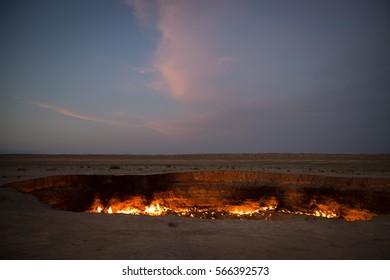 Derweze Gas Crater known as 'The Door to Hell,Turkmenistan
