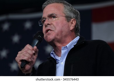 DES MOINES, IOWA - OCTOBER 30, 2015.  Jeb Bush speaks at the Republican Party's Growth and Opportunity event.