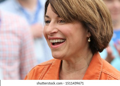 Des Moines, Iowa - September 21, 2019:  Amy Klobuchar, Minnesota Senator and Democratic Presidential Candidate, attends a political rally in Des Moines, Iowa.