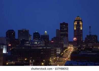 Des Moines, Iowa skyline