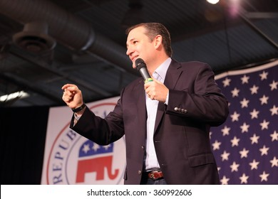 DES MOINES, IOWA-OCTOBER 31, 2015:  Ted Cruz speaks at the Republican Growth and Opportunity party in Des Moines, Iowa