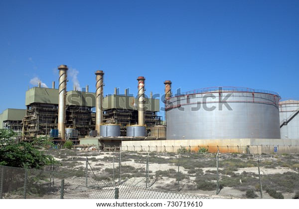 Desalination Plant Sharjah United Arab Emirates Stock Photo