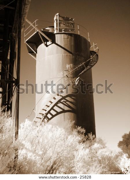 Desalination tower at Beresford Siding, Oodnadatta Track, South Australia