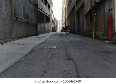 Desaturated alleyway in downtown Denver.