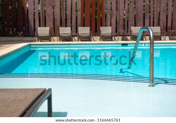 Outdoor Natural Gas Fire Pit Table, Descent Pool Clean Water Next Beach Stock Photo Edit Now 1166465761