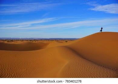 M´hamid deser, Zagora desert, Morocco, Africa, sandboarding