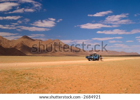 Image of: Portrait Desert 2 Travelers In The Desert In Namibia Shutterstock Desert Travelers Desert Namibia Stock Photo edit Now 2684921