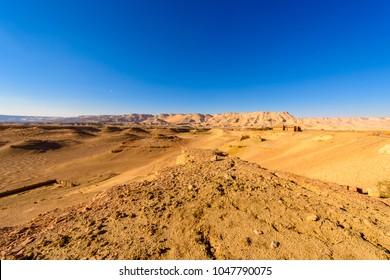 Desert around Al Qasr, old village in Dakhla Desert, Egypt