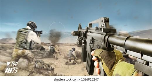 Gaming Gun Images, Stock Photos & Vectors | Shutterstock