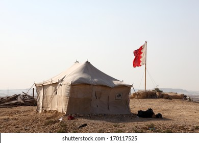 Desert camp in Bahrain, Middle East
