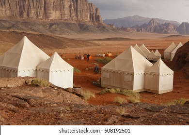 Desert camp at Wadi Rum, jordan