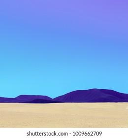 Desert. Canary Islands. Minimal mood