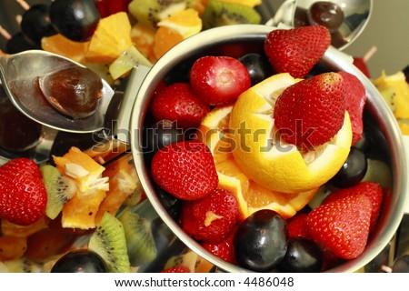 Desert Delicious Fruit Salad Decoration Stockfoto Jetzt Bearbeiten