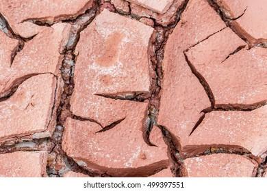 Desert dry and cracked ground.