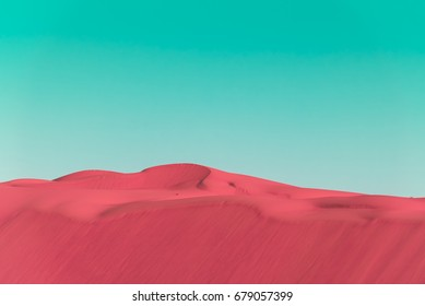 Desert dunes in bright pop art style