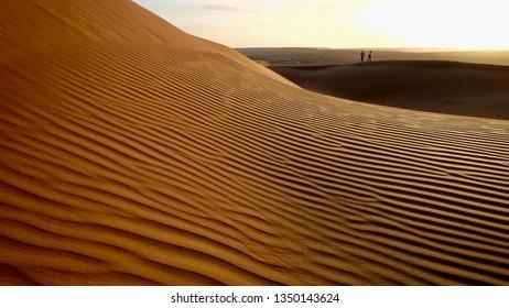 Desert dunes in Wahiba sands, Oman