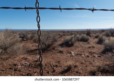 Desert Fence Barbwire