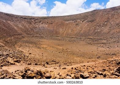Desert formed by lava flows on the volcanic island of Lanzarote