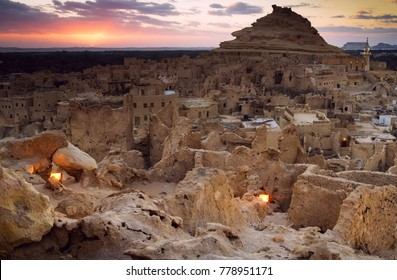 Desert fortress Shali in oasis Siwa in Egypt
