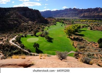 Desert Golf Course in Moab
